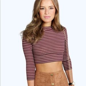 Stripped cropped top